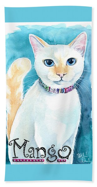 Mango - Flame Point Siamese Cat Painting Bath Towel