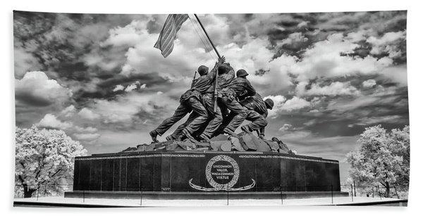 Marine Corps War Memorial Bath Towel