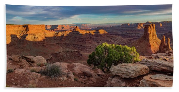 Marlboro Point Sunset Panorama Hand Towel