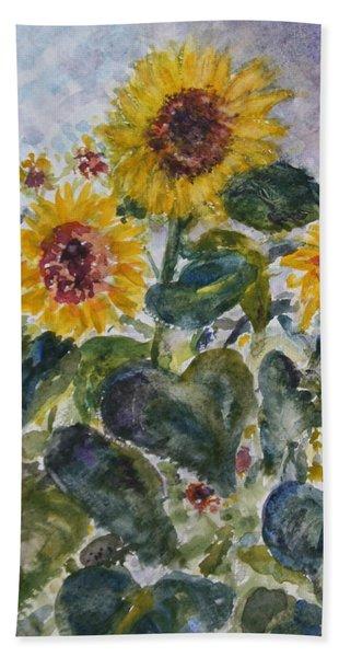 Martha's Sunflowers Hand Towel