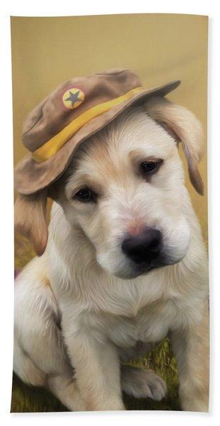 Maverick And Tori - Labrador Art Hand Towel