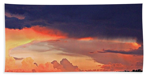 Mazatzal Peak Sunset Hand Towel