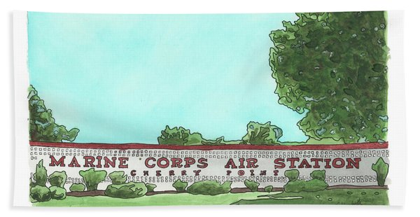 Mcas Cherry Point Welcome Hand Towel