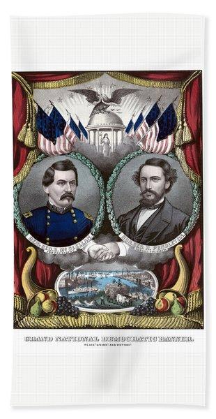 Mcclellan And Pendleton Campaign Poster Hand Towel