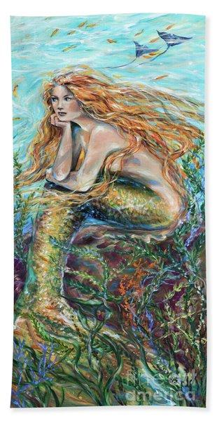 Mermaid Contemplating Hand Towel