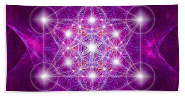 Metatron Cube Mandala Hand Towel