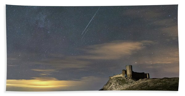 Meteors Above The Fortress Hand Towel