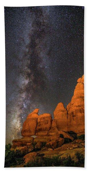 Milky Way And Navajo Rocks Bath Towel