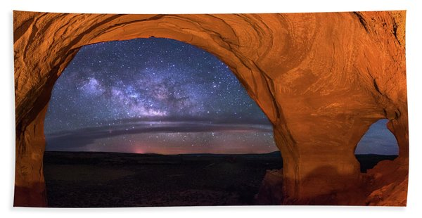 Milky Way At Looking Glass Rock Hand Towel
