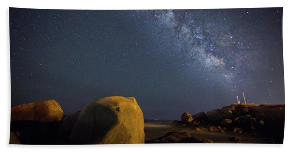 Milky Way On The Beach Hand Towel
