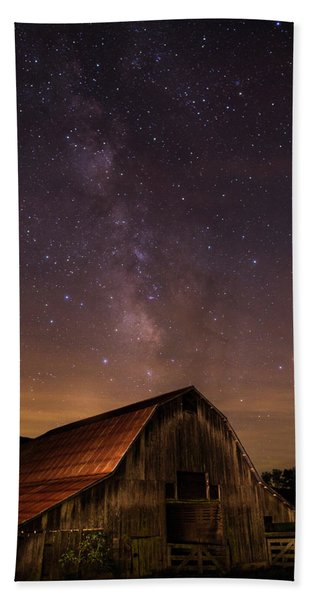 Milky Way Over Boxley Barn Hand Towel