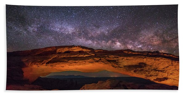 Milky Way Over Mesa Arch Hand Towel