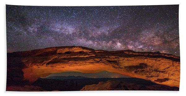 Milky Way Over Mesa Arch Bath Towel
