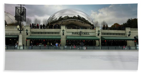 Millennium Park Ice Skating Rink Hand Towel