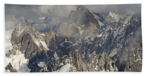 Mist And Light At Aiguille Du Midi Hand Towel