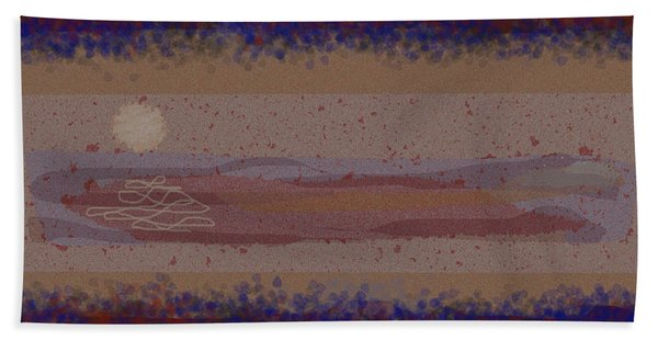 Misty Moisty Landscape Abstraction Hand Towel
