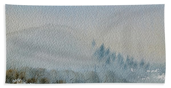A Misty Morning Hand Towel