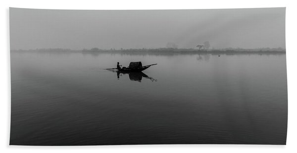 Misty Morning On The Lower Ganges Bath Towel
