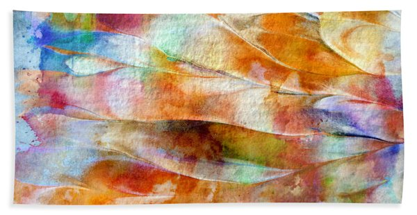 Bath Towel featuring the painting Mixed Media Abstract  B31015 by Mas Art Studio