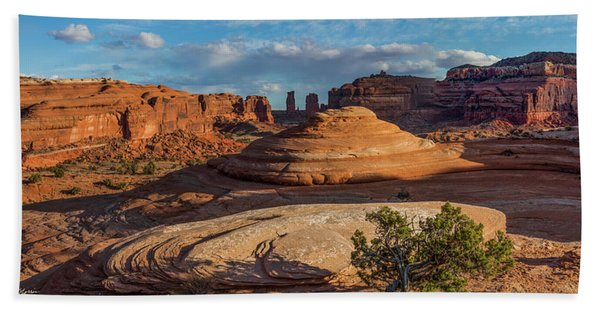 Moab Back Country Panorama Hand Towel