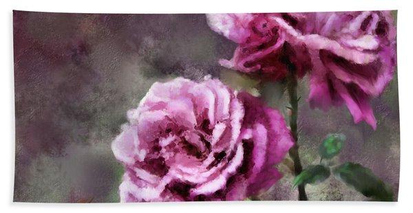 Moms Roses Hand Towel