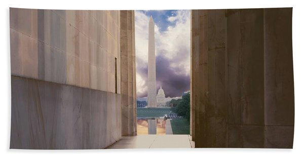 Monuments Sunrise Hand Towel