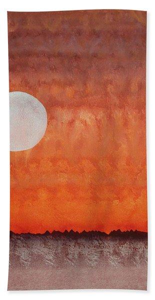 Moon Over Mojave Bath Towel