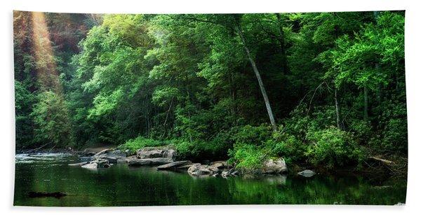 Morning Light On Williams River  Hand Towel