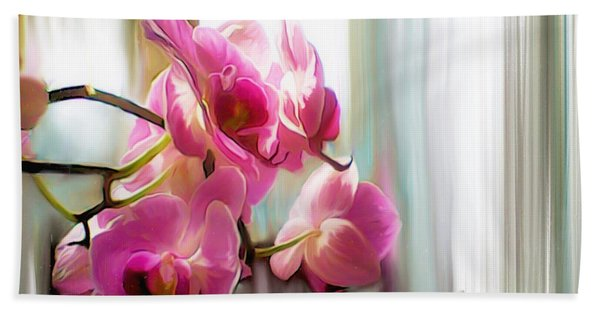 Morning Light Orchids Hand Towel