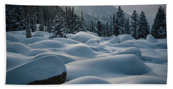Hand Towel featuring the photograph Mounds Of Snow In Little Cottonwood Canyon by James Udall