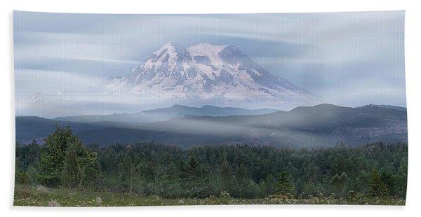Bath Towel featuring the photograph Mt. Rainier by Patti Deters