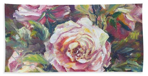 Multi-hue And Petal Rose. Bath Towel