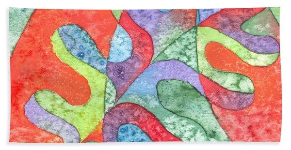 Multicolor Oak Leaf Bath Towel