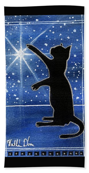 My Shinning Star - Christmas Cat Bath Towel