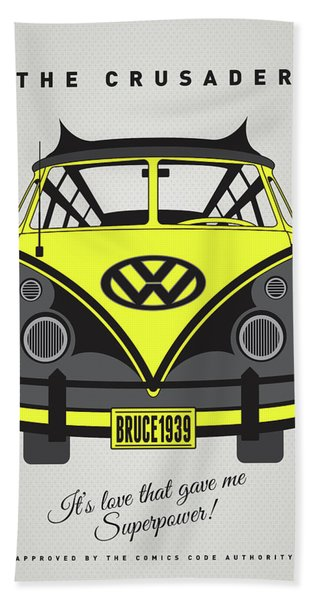 My Superhero-vw-t1-batman Bath Towel