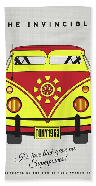 My Superhero-vw-t1-iron Man Bath Towel