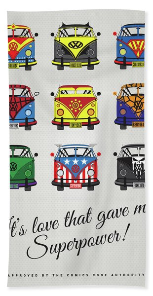 My Superhero-vw-t1-supermanmy Superhero-vw-t1-universe Bath Towel