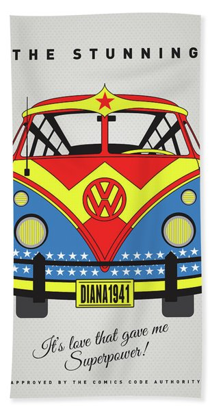 My Superhero-vw-t1-supermanmy Superhero-vw-t1-wonder Woman Bath Towel