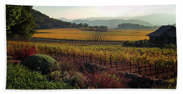 Napa Valley California Bath Towel