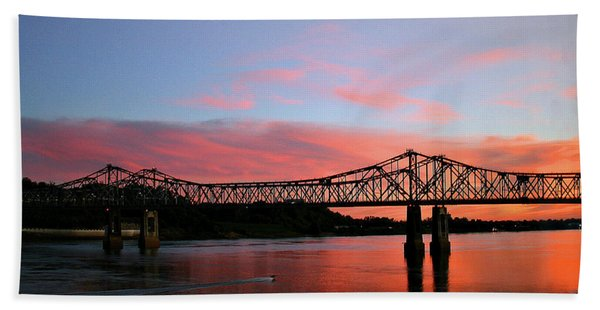 Natchez Sunset Hand Towel
