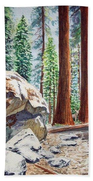 National Park Sequoia Hand Towel