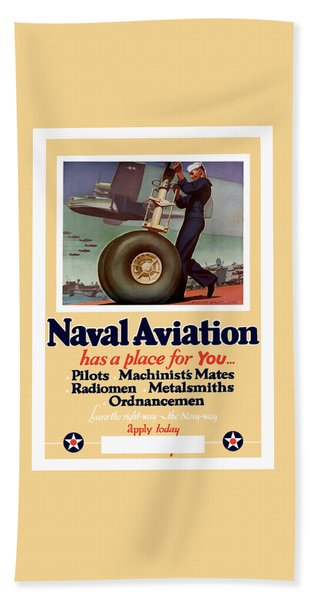 Naval Aviation Has A Place For You Hand Towel