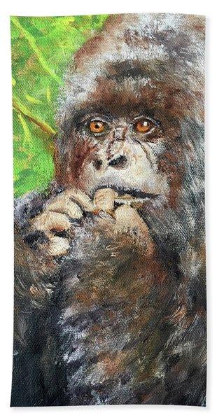 Nervous Mama Gorilla Bath Towel