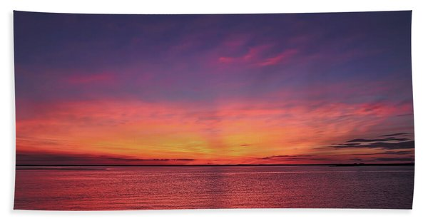New Jersey Shore Sunset Bath Towel