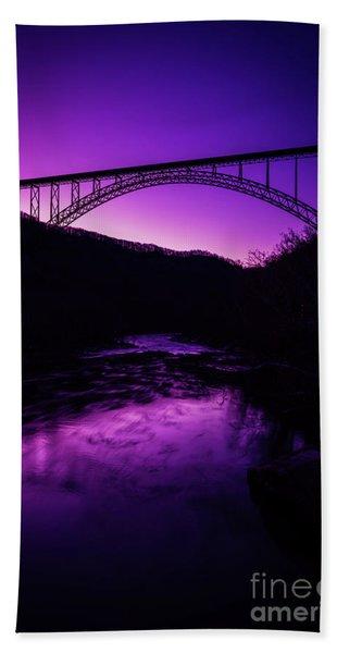 New River Gorge Bridge Afterglow Bath Towel