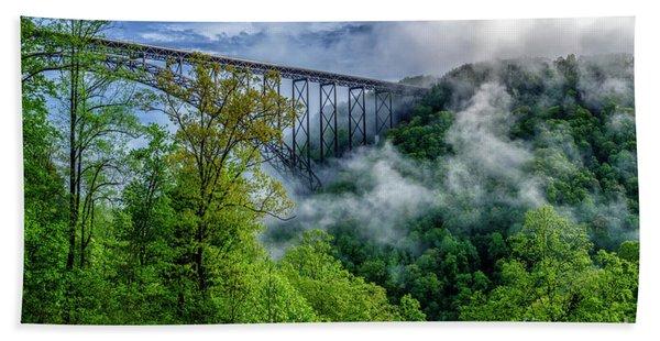 New River Gorge Bridge Morning  Bath Towel