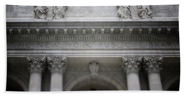 New York Public Library- Art By Linda Woods Bath Towel