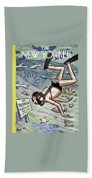 New Yorker January 28 1956 Bath Towel