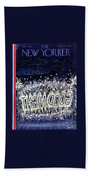New Yorker July 4 1953 Bath Towel