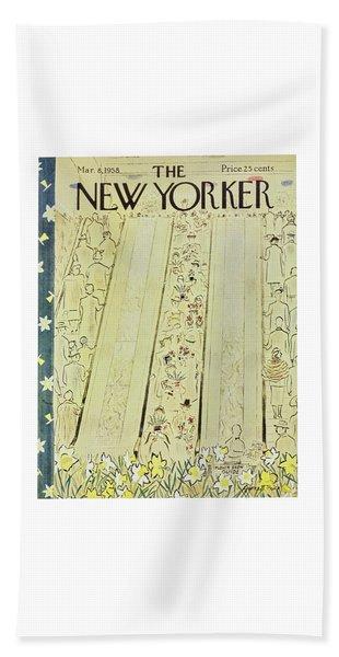 New Yorker March 8 1958 Bath Towel